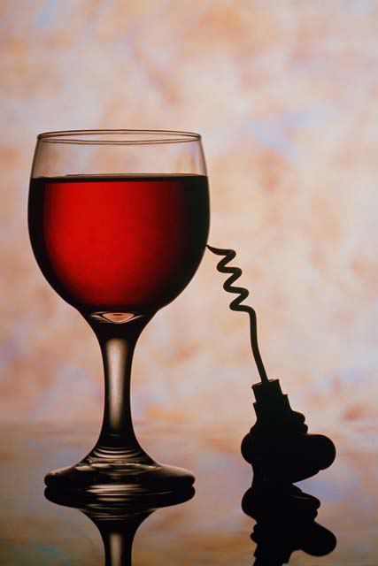 Wine Glass & Corkscrew