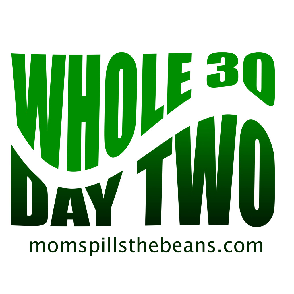 Whole 30 Day Two –  Spilling the Beans